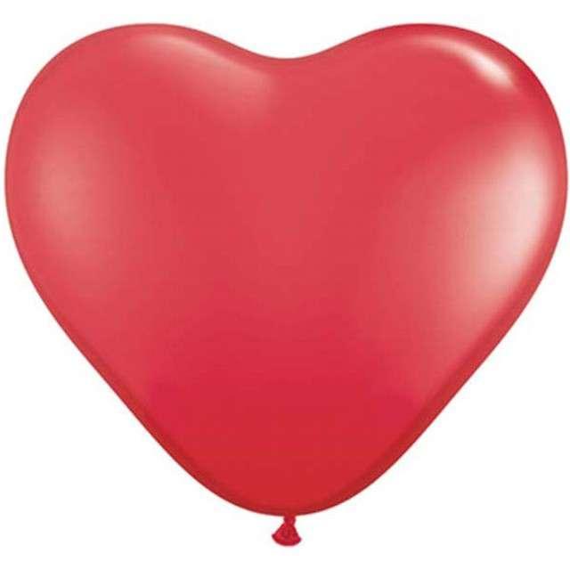 """Balony 36"""", serca, QUALATEX, pastel czerwone, 2 szt"""