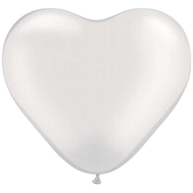 """Balony 6"""", serca, QUALATEX, metalik perłowe, 100 szt"""