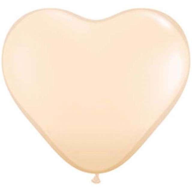 "Balony 6"", serca, QUALATEX, pastel cieliste, 100 szt"