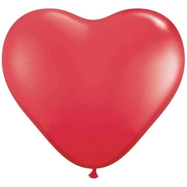 """Balony 6"""", serca, QUALATEX, pastel czerwone, 100 szt"""