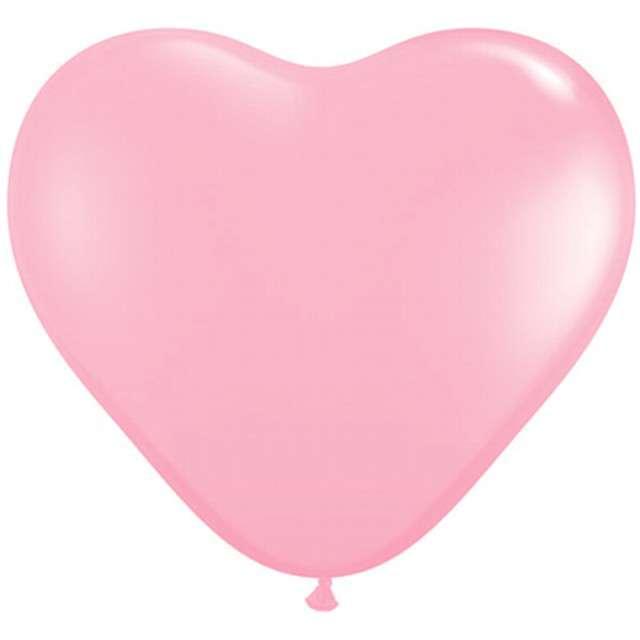 "Balony 6"", serca, QUALATEX, pastel różowe jasne, 100 szt"