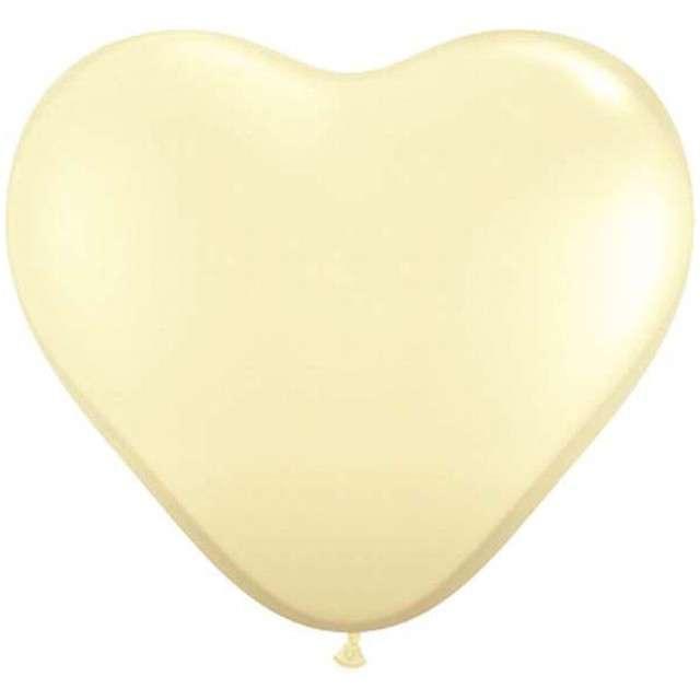 "Balony 6"", serca, QUALATEX, pastel ivory, 100 szt"