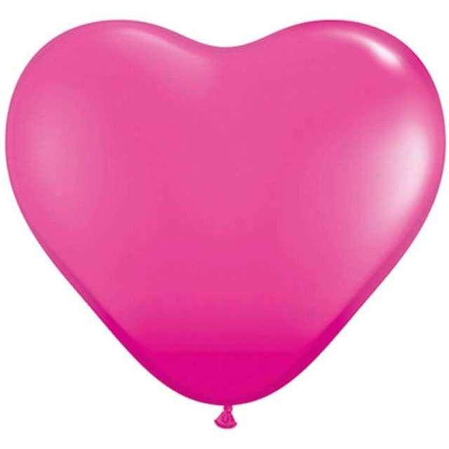 "Balony 6"", serca, QUALATEX, pastel żurawinowe, 100 szt"
