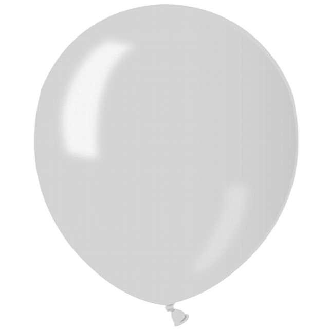 """Balony 5"""" Metalik GEMAR Silver 100 szt"""