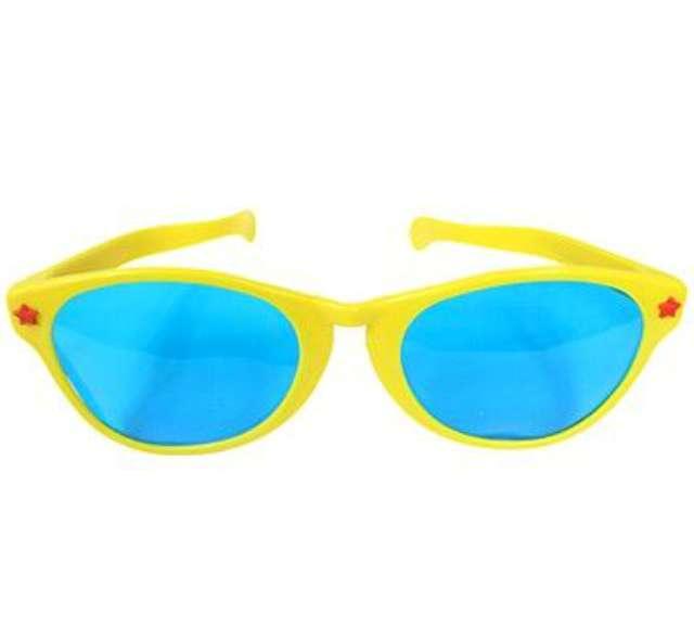 """Okulary party """"Jumbo"""", żółte, Godan"""