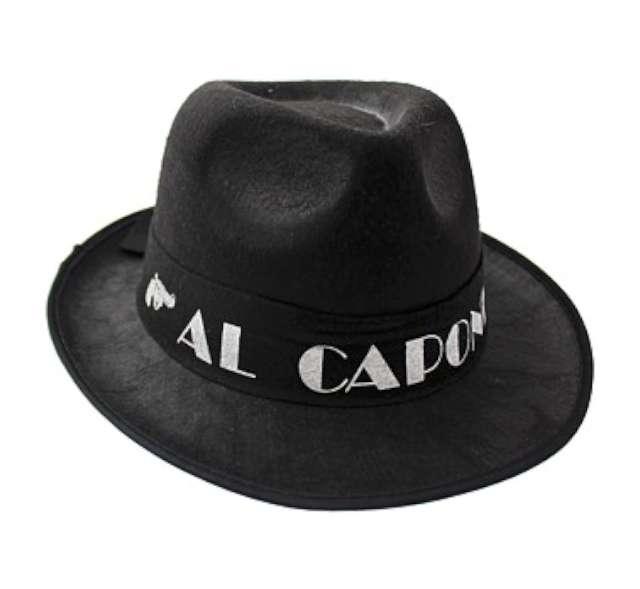 "Kapelusz ""Al Capone"", czarny"