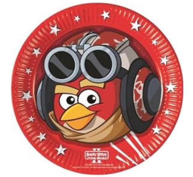 """Talerzyki papierowe """"Angry Birds - Star Wars"""", 23 cm, 8 szt"""