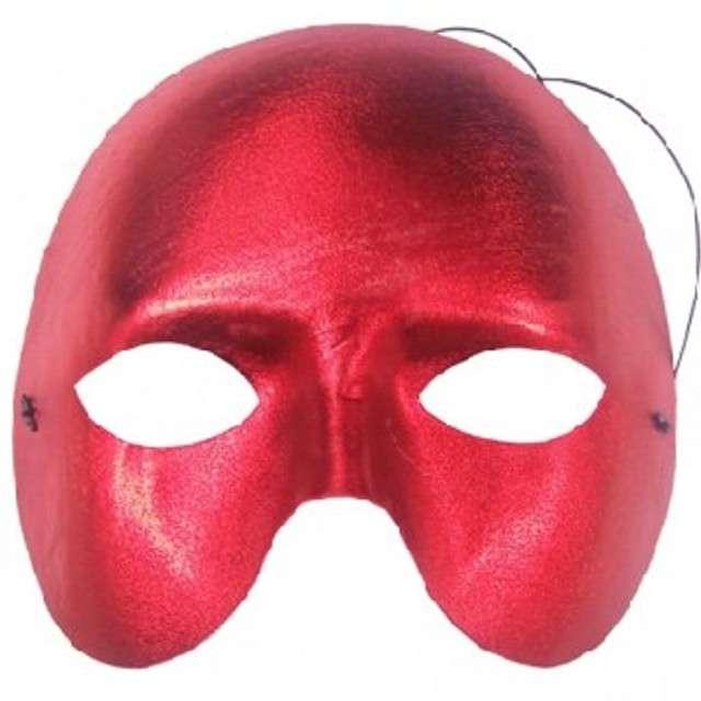 """Maska karnawałowa, czerwona, """"Nieznajoma"""""""