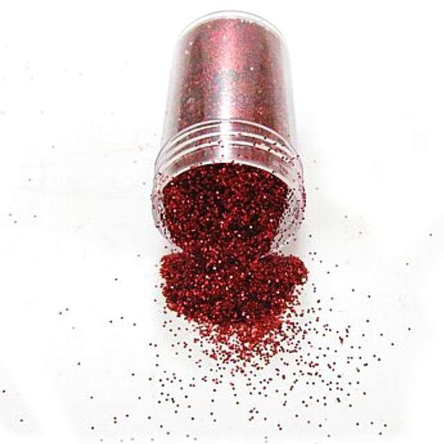Brokat dekoracyjny, solniczka, czerwony