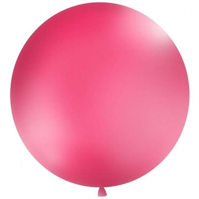 Balon 1 metr, pastel meks. okrągły, fuksja 1 szt.