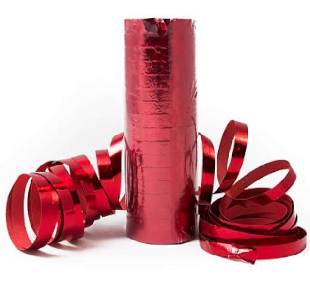 Serpentyna holograficzna czerwona, 17 rolek