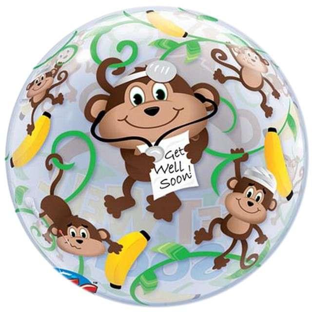"Balon foliowy 22"" Get Well Monkeys"