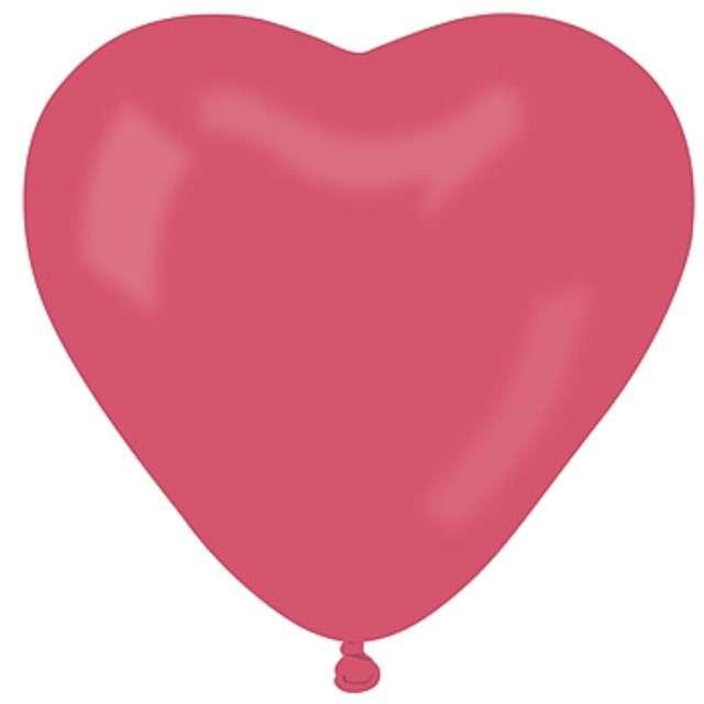 """Balony 11"""", serca, GEMAR, pastel czerwone, 50 szt"""
