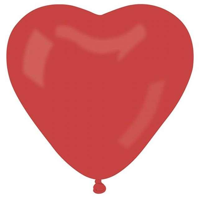 """Balony """"Serce"""" 17"""", pastel czerwone, GEMAR,  50 szt"""