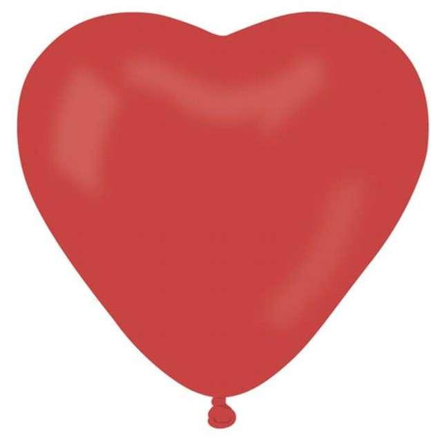 """Balony 6"""", serca, GEMAR, pastel czerwone, 100 szt"""