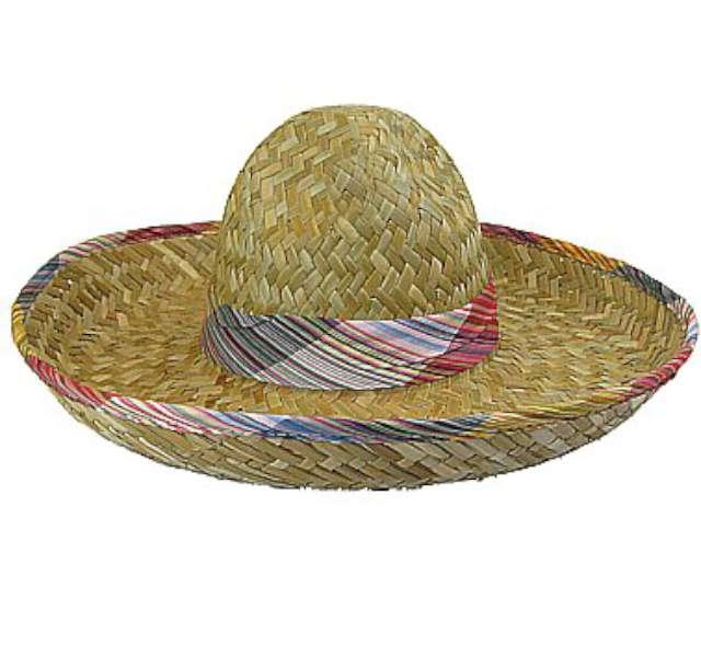 Sombrero z kolorowym obszyciem