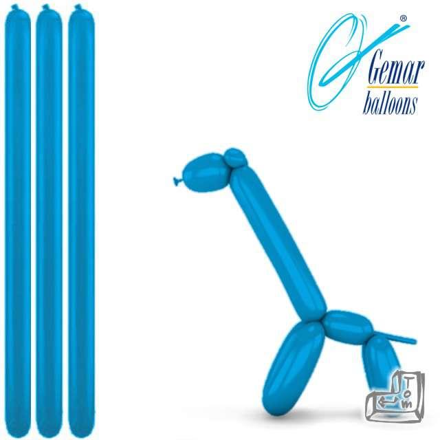 Balony modeliny GEMAR 260 niebieskie, 100 szt