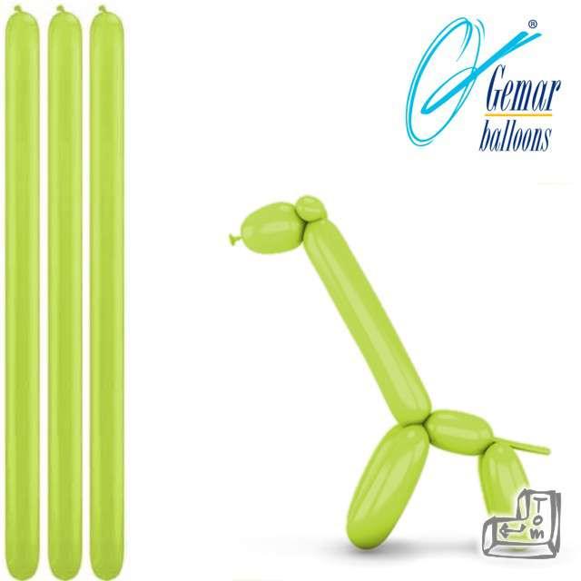 Balony modeliny GEMAR 260 pistacjowe, 100 szt
