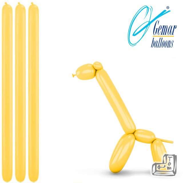 Balony modeliny GEMAR 260 żółte, 100 szt