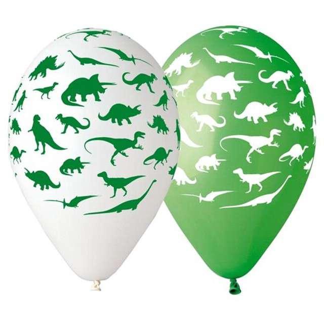 """Balony 12"""", """"Dinozaury"""", 5 szt"""