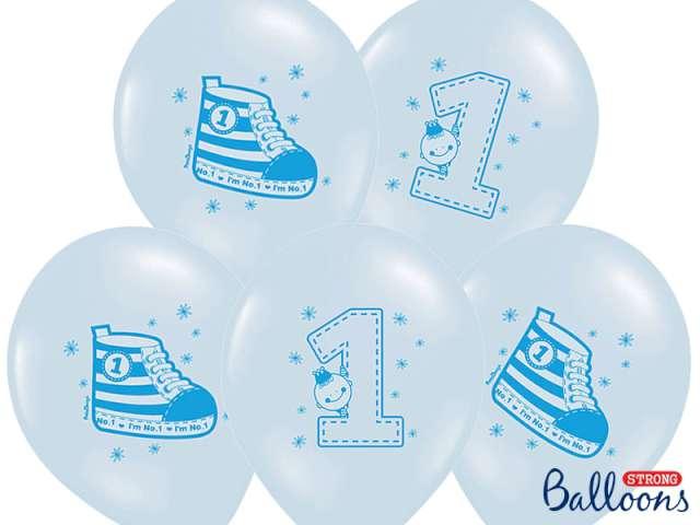 "Balony 14"", ""Trampek 1"", STRONG, Pastel Baby Blue, 6 szt"