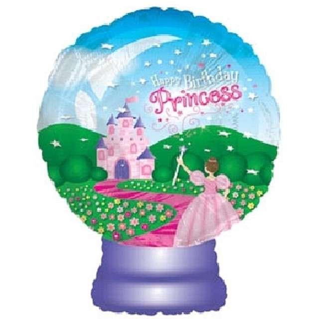 """Balon foliowy 22""""  """"Happy Birthday Princess (szklana kula)"""""""