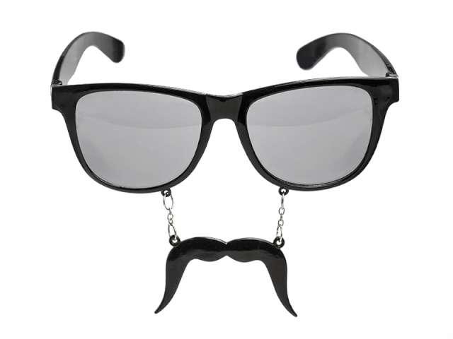 """Okulary party """"Wąsy"""", czarne"""