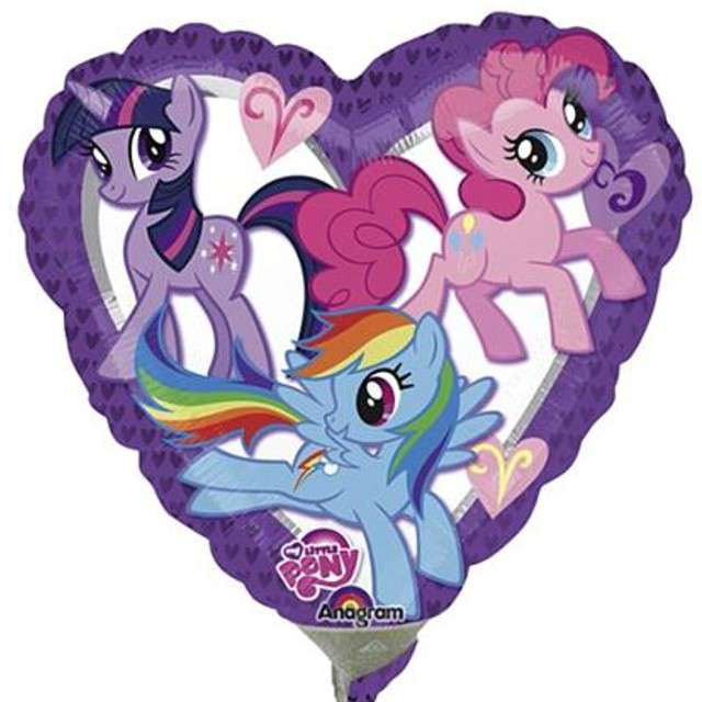 "Balon foliowy ""My Little Pony"", AMSCAN, 9"" HRT"