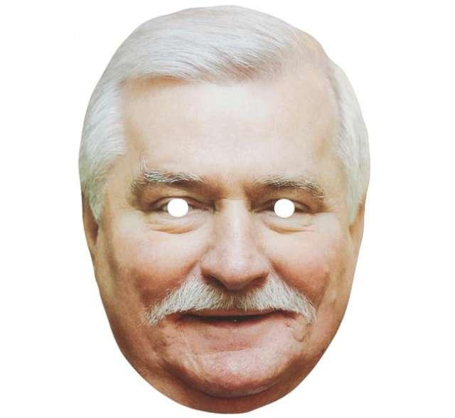 "Maska ""Lech Wałęsa"", papierowa"