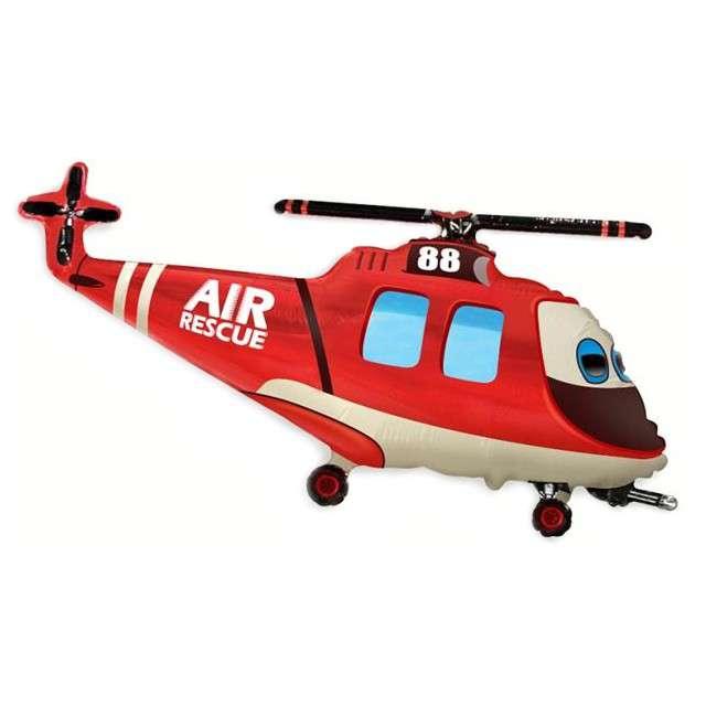 """Balon foliowy """"Helikopter Ratunkowy"""", FLEXMETAL, 17"""" SHP"""
