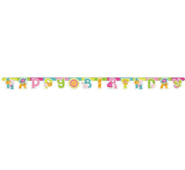 "Baner ""Happy Birthday"", wiosna"