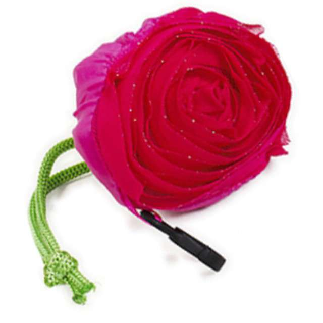 """Torba na zakupy """"Róża, brelok"""", różowa, Godan"""