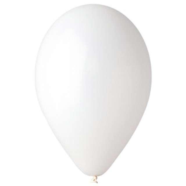 "Balony 12"" Pastel GEMAR White 100 szt"