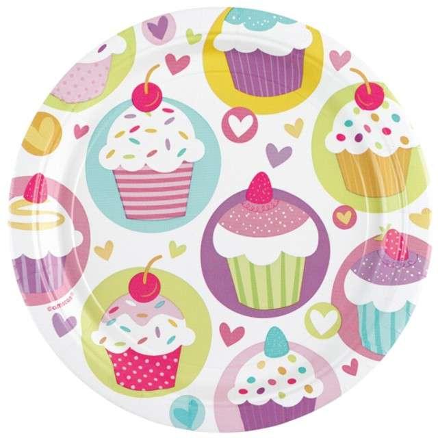 """Talerzyki papierowe """"Cupcake"""", 23 cm, 8 szt"""