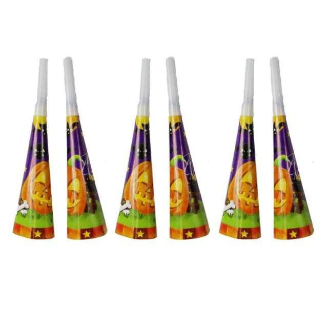 "Trąbki papierowe horn ""Halloween"", 6 szt"