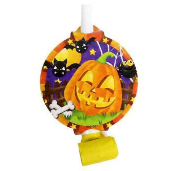 """Gwizdek zwijany """"Halloween"""", 6 szt"""
