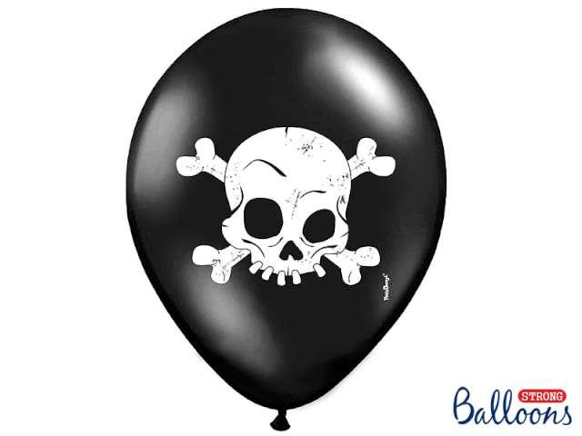 """Balony 14"""", """"Czaszka"""", czarne pastel, 50 szt"""