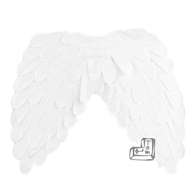 """Skrzydła """"Anioł Classic"""", białe, GODAN, 45 x 39 cm"""