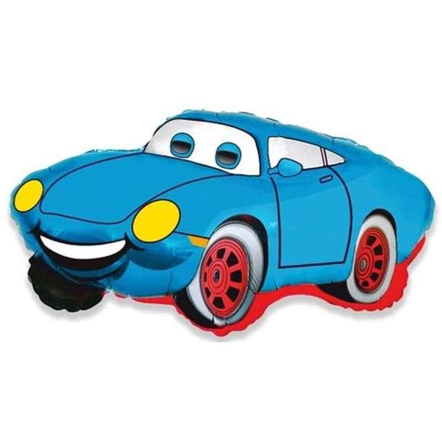 """Balon foliowy 14"""" Uśmiechnięty samochód niebieski"""