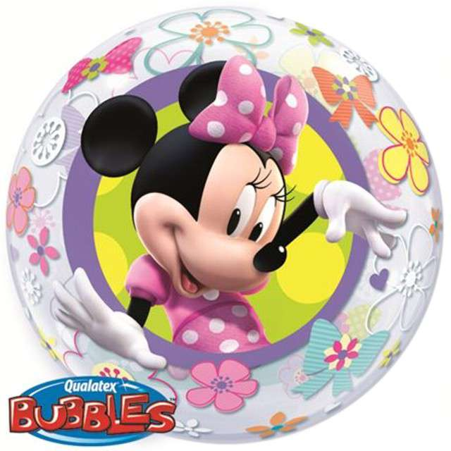 "Balon foliowy ""Minnie Mouse Bow-Tique"", Qualatex Bubbles, 22"""