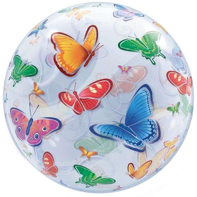 """Balon foliowy """"Motylki"""", QUALATEX, 22"""" ORB"""