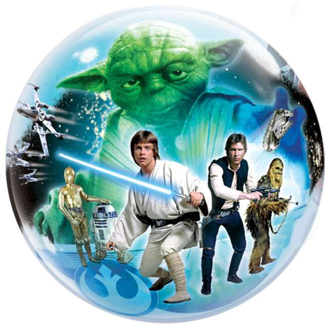 "Balon foliowy ""Star Wars"", QUALATEX, 22"" Bubbles"