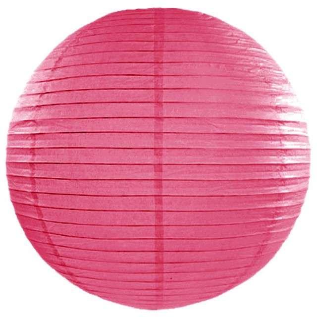 Lampion papierowy, różowy ciemny, 35 cm