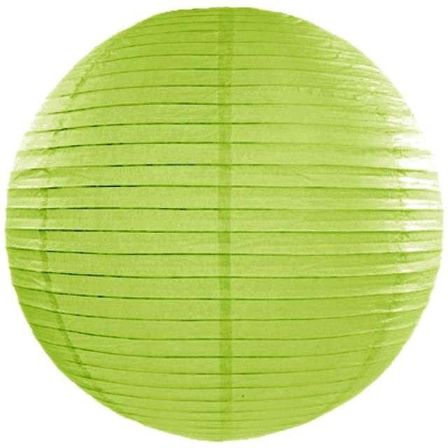 Lampion papierowy, zielone jabłuszko, 35 cm