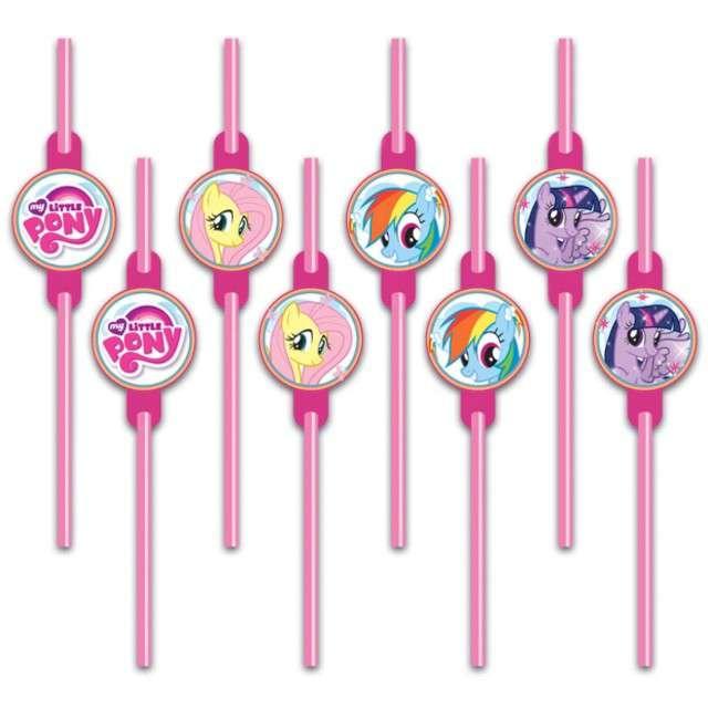 """Słomki """"My Little Pony"""", 24 cm, 8 szt"""