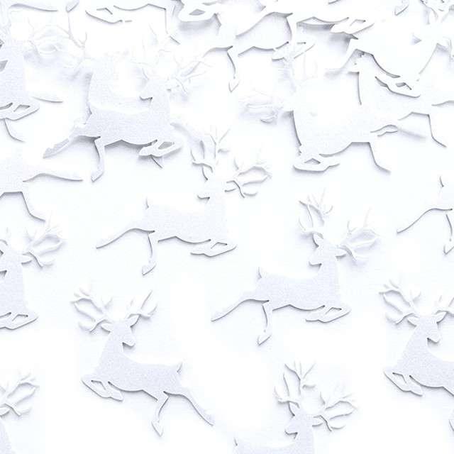 "Konfetti ""Renifery"" 2,3 x 3,6 cm, białe, 20 szt."