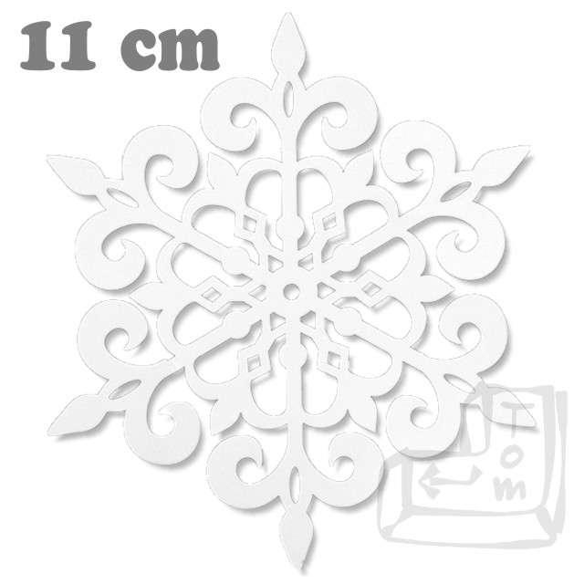 Dekoracje papierowe Śnieżynka, biały, 11 cm, 10 szt