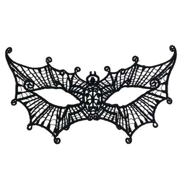 Maska karnawałowa, motyl, czarna ażurowa