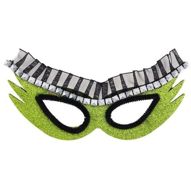 Maska karnawałowa, zielona, kosmiczna