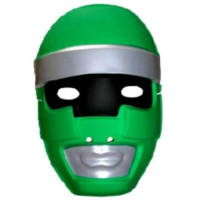 "Maska ""Robot"", zielony, plastikowa"